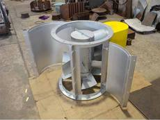 Vane Axial Fan with Clam Shell Housing for Ceramic Industry
